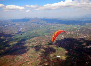 Paragliding cross country flying Italy, Norma, Poggio Bustone