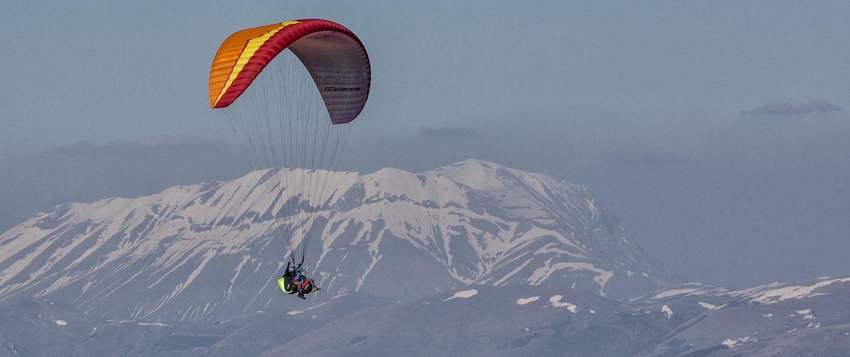 Volare in tandem, Monte Vettore, Castelluccio