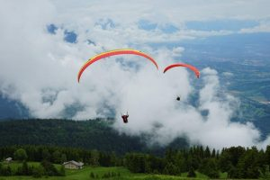 Paragliding take-off Feltre, Italy
